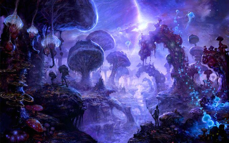 Myconid Paradise Art