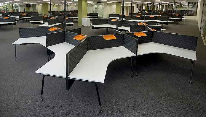 Honeycomb Style Call Center Workstations
