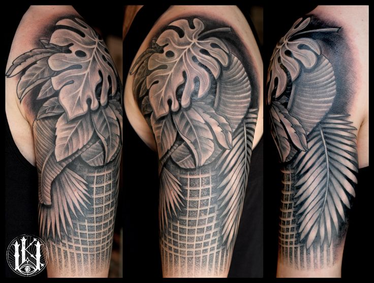 #tattoo #tatuaz #warsaw #warszawa #geometry #geometria #dotwork #kropki #leafs #liscie