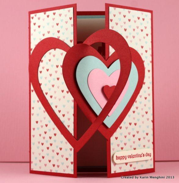 Interlocking Heart Framelits Valentine Card - opening