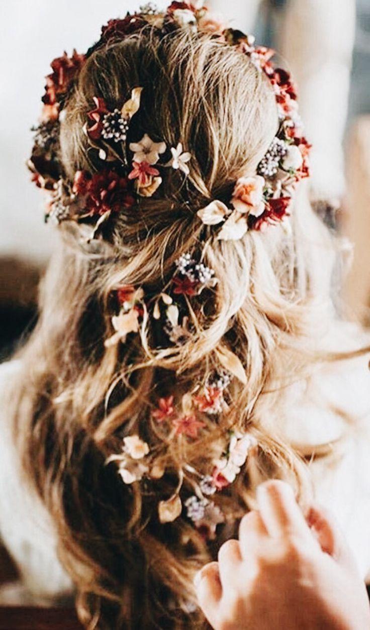 bridal hair flowers | hairstyles in 2019 | floral wedding