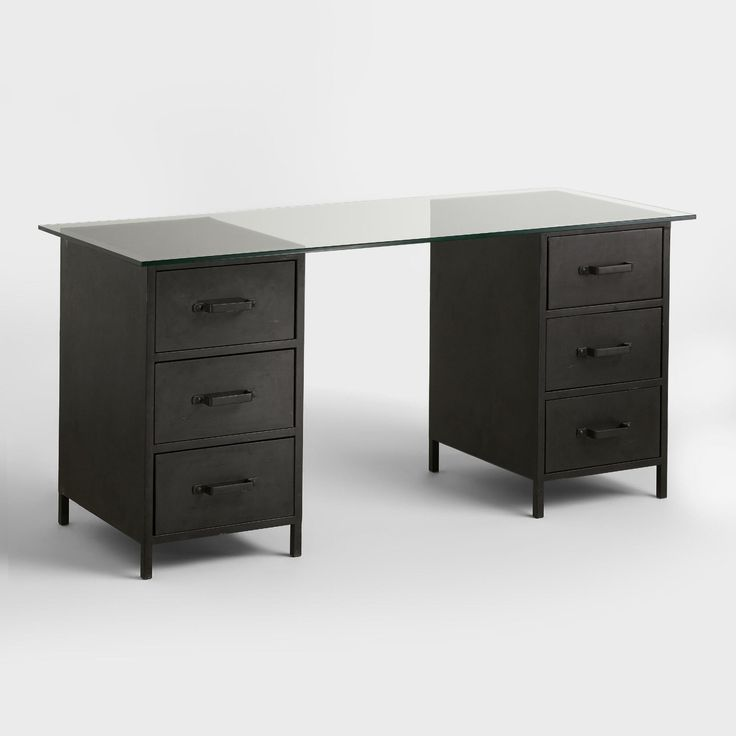 glass top desks with drawers diy stand up desk check more at http