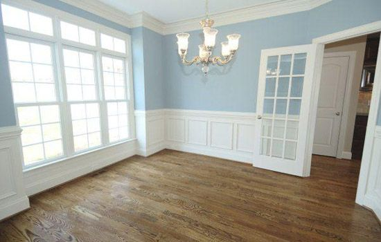 wainscotingDining Room, Room Colors, Colors Bedrooms, Blue Wall, Interiors Design, Colors Schemes, Shadows Boxes, Painting Colors, Crowns Moldings
