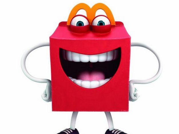 Kids react to Happy mascot  #McDonald's