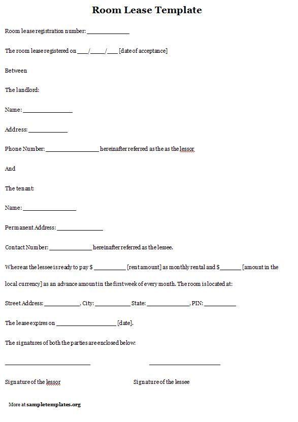 Simple Rental Agreements Printable Sample Room Rental Agreement - room rental agreements