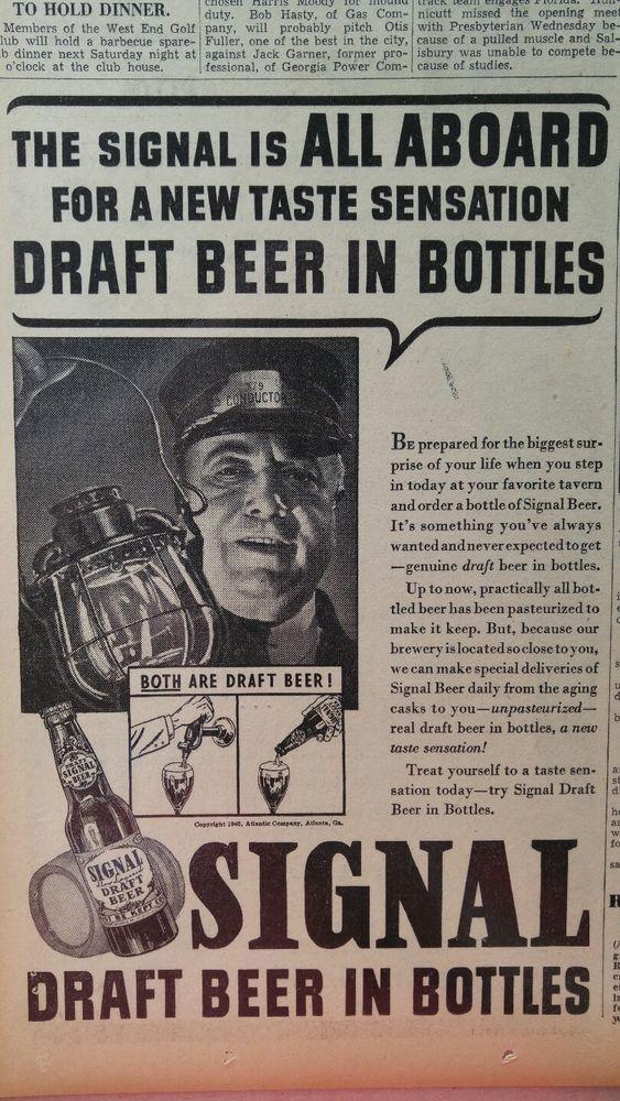 APR 6, 1940 NEWSPAPER #J5401- ATLANTA- SIGNAL BEER + GRAND NATIONAL HORSE RACE