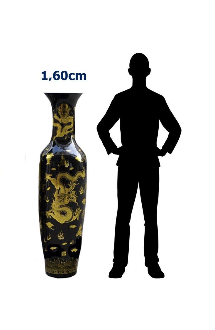 Jarrón Porcelana Pintado a Mano 160 cm (Aprox) / JPPM-160CM – ChileRemates.cl