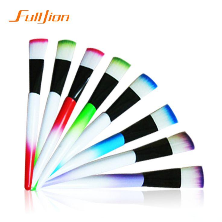 1 Pz Colorful Ramdonly Professionale Pennelli Trucco Portatile Piatto BB Cream Per Fondotinta In Polvere Arrossire Pennello Tools Kit