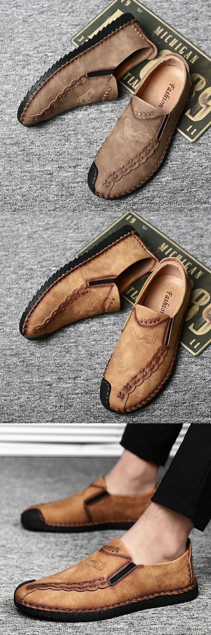 Prelesty Brand Retro Handmade Leather Shoes Men Casual Genuine… - http://sorihe.com/mensshoes/2018/02/22/prelesty-brand-retro-handmade-leather-shoes-men-casual-genuine-2/