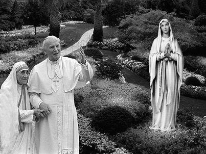Giovanni Paolo II e Madre Teresa di Calcutta