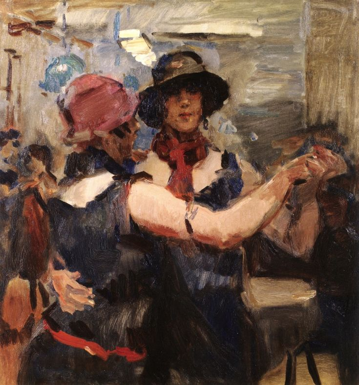 Women Dancing at a Cafe, The Hague circa 1926 Isaac Israëls (February 3, 1865 – October 7, 1934)  Dutch painter associated with the Amsterdam Impressionism movement