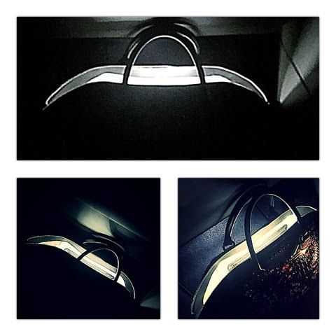 """In the night, only with my #bag.. open it and i can have my personal """"sunshine""""!    http://bit.ly/lightupLED #ledemotiondesign #lightupyourinside"""
