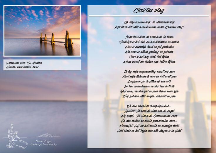 Christus vlag. Meer gedichten, quotes en kleurplaten op www.dichter-bij.nl