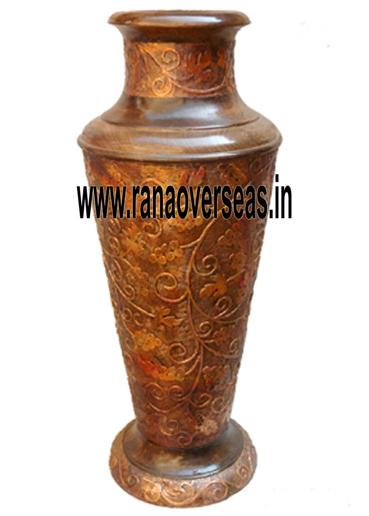 Rana Overseas leading manufacturer, exporter and supplier of Wooden Flower vases.Our Wooden flower vases / pots serve as decorative pieces specially used to display the plants and flowers together with a beautiful view of exotic flower colors and plant greenery. Our Wooden flower vases are serve as a memorable gifts for near and dear ones. They are ideally placed on writing tables, coffee tables, dining tables, center tables, Room corners, corner racks,