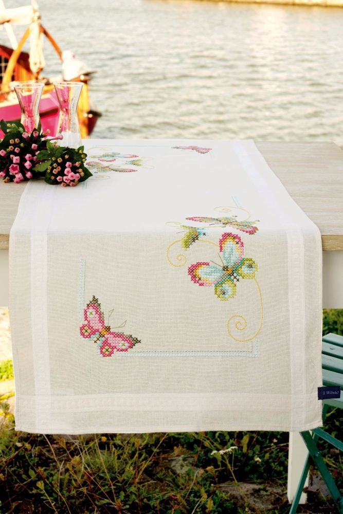 Counted Cross Stitch Kits: Runner Butterflies