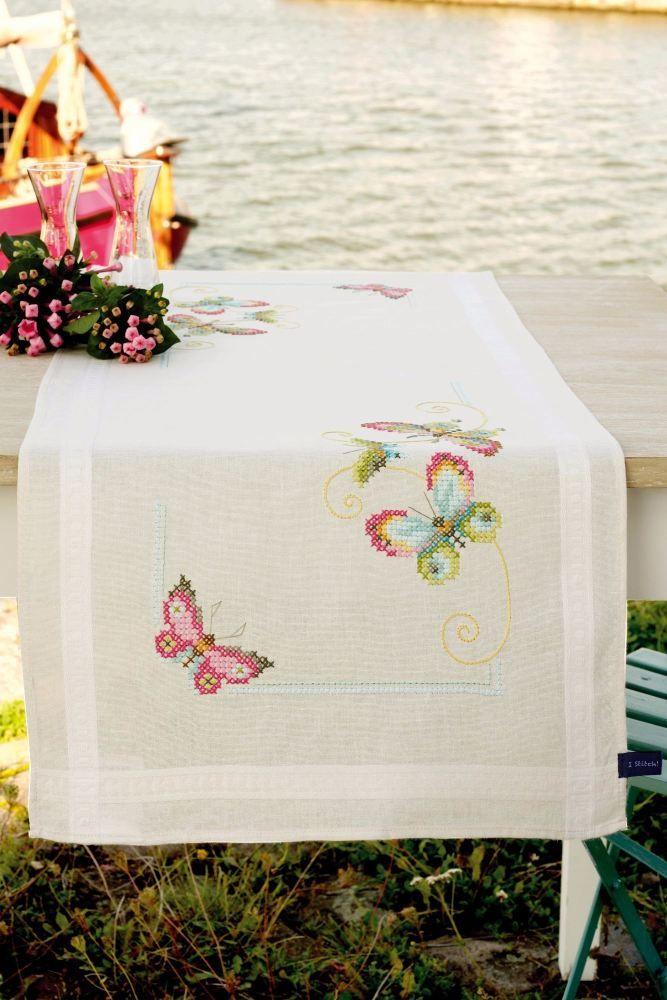 Counted Cross Stitch Kits: Runner Butterflies