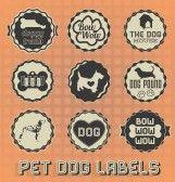 galletas perro : Vintage etiquetas de perro de mascota e Iconos