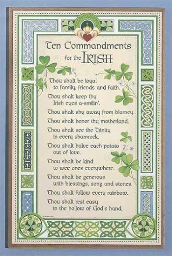 Ten Commandments for the Irish                                                                                                                                                     More