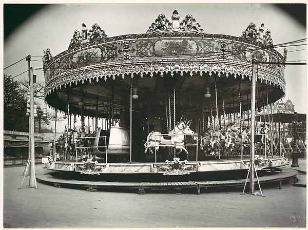 Eugène Atget (French, 1857–1927). Carrousel, 1923, printed 1956. The Metropolitan Museum of Art, New York. David Hunter McAlpin Fund, 1956 (56.610.7)