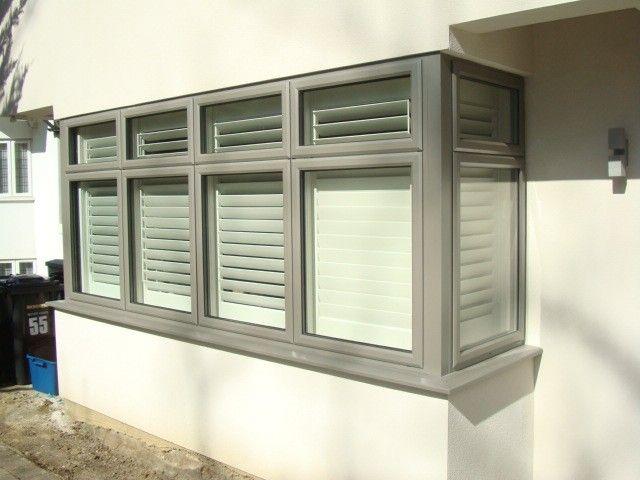 #Aluminium contemporary window installation
