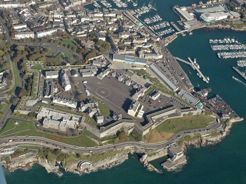 The Royal Citadel, Plymouth, Devon, UK Photo Steve Johnson