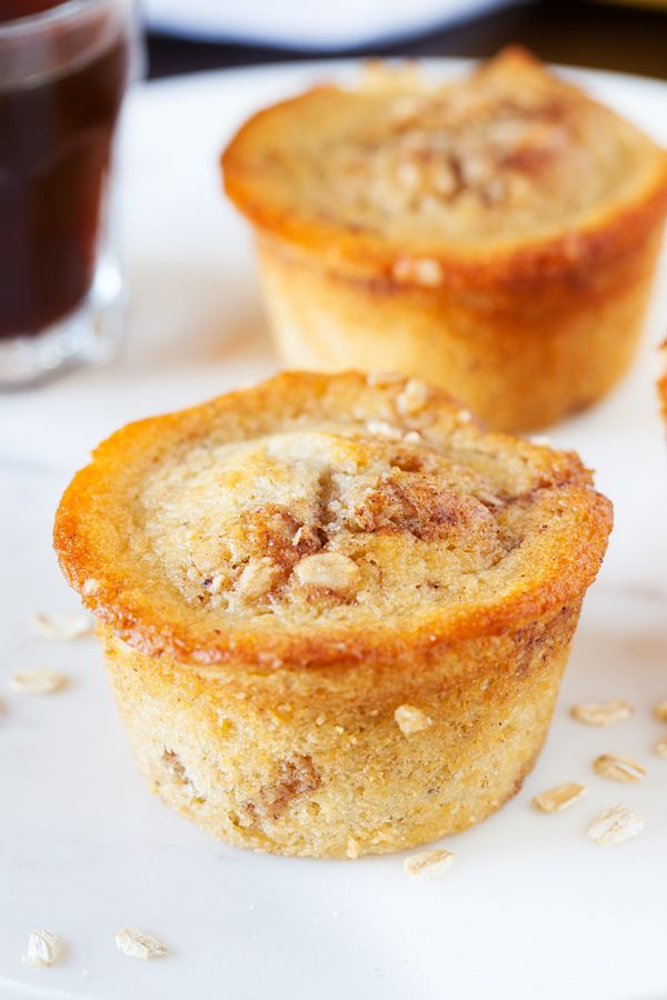 Stuffed inside these moist, tender, and soft Banana Coffee Cake Muffins are TWO bananas for a HUGE punch of banana flavor. from @thepkpway