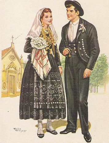 Marriage dress for the region of Minho, Portugal
