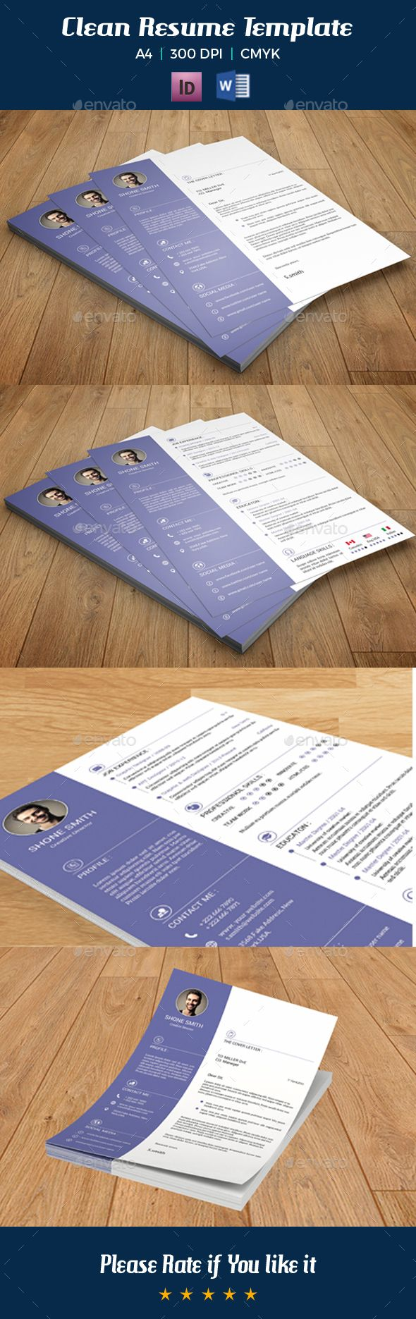 Clean Resume Template V09 140 best Best