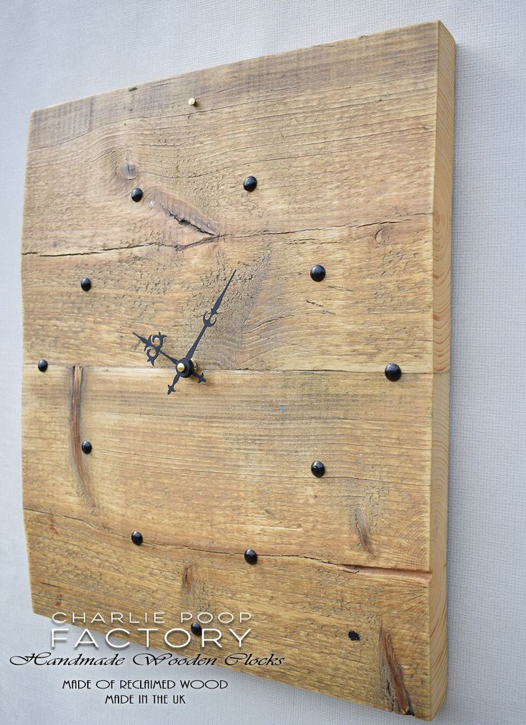 Wall Clock, Rustic Clock, Wooden Clock, Clock, Handmade Wall Clock, Reclaimed Wood Clock, Large clock,  Modern Clock, Large wood Clock by CharliePoopFactory on Etsy https://www.etsy.com/listing/508271102/wall-clock-rustic-clock-wooden-clock