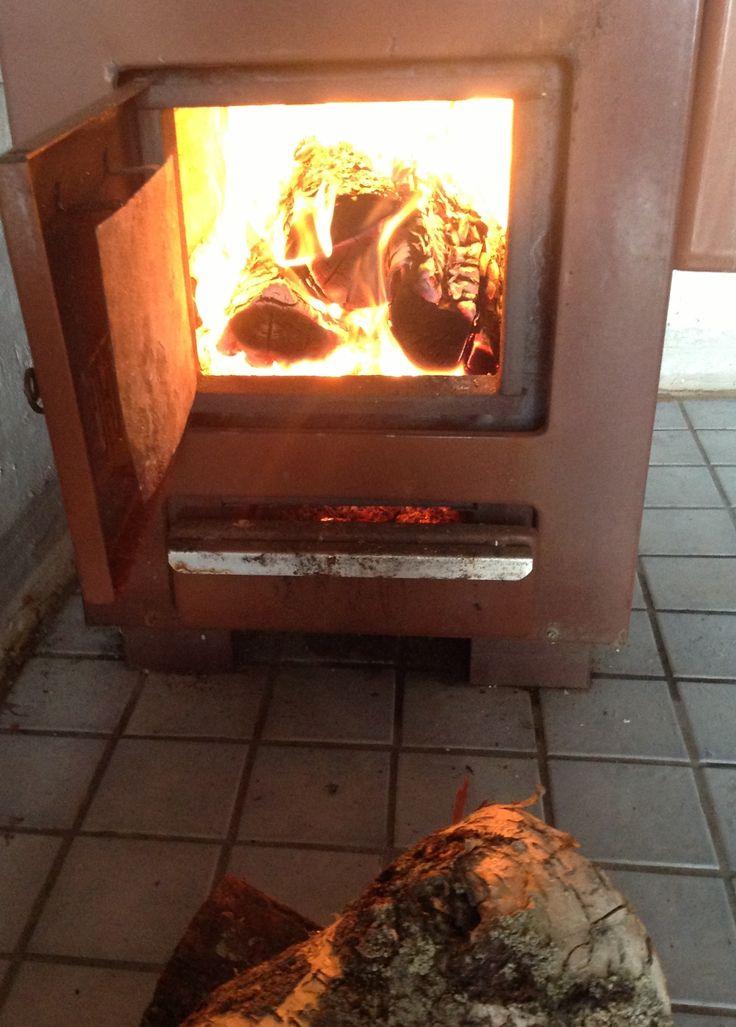 Heating sauna!