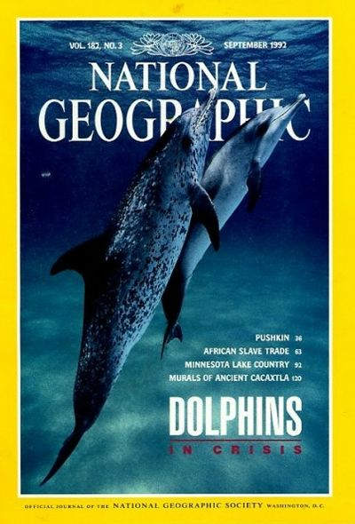 The Best of National Geographic Magazine Covers  - September 1992—Dolphins in Crisis
