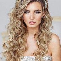hair down wedding hairstyle