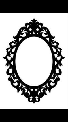 Here You Can See The Round Vintage Silhouette Cameo Frame Clipart Simple Collection Use These