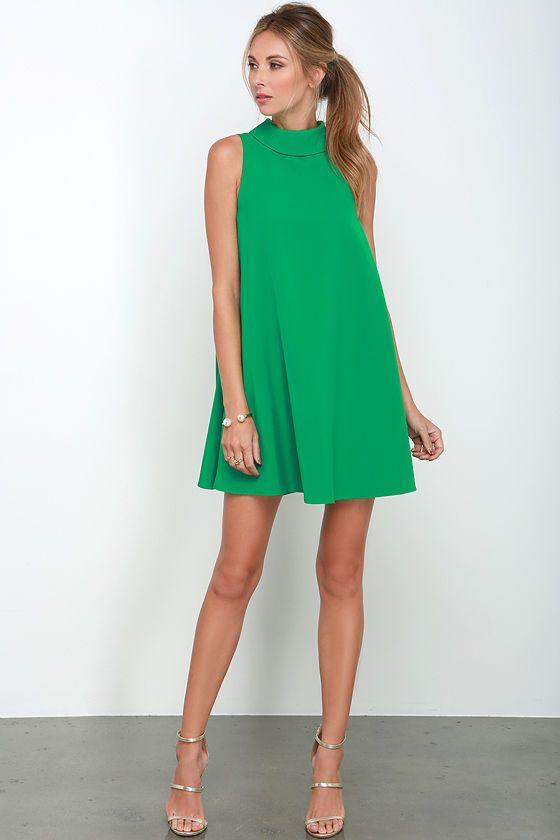 Mod Maven Green Swing Dress at Lulus.com!
