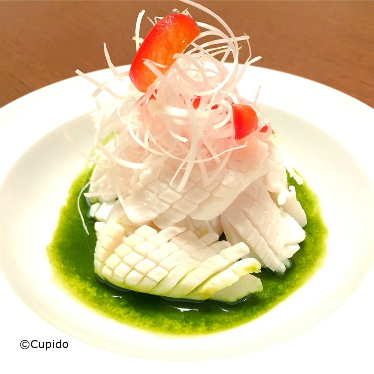 Cuttlefish with Maccha Sauce in Chinese Style_©Cupido