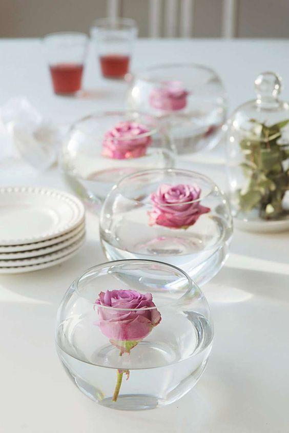 floating roses centerpiece valentine s day ideas in 2019 wedding rh pinterest com