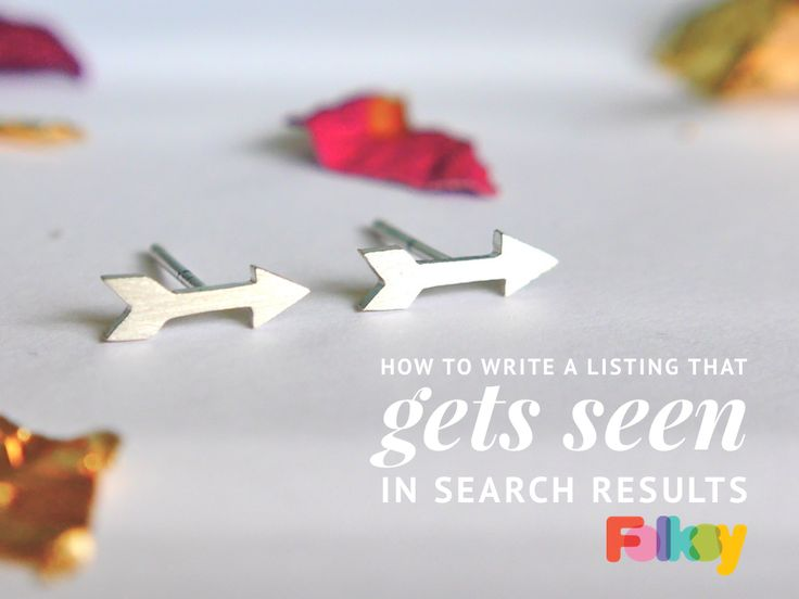 We guide you through the listing process and share tips that will help get your products closer to the top of more search results on Folksy.
