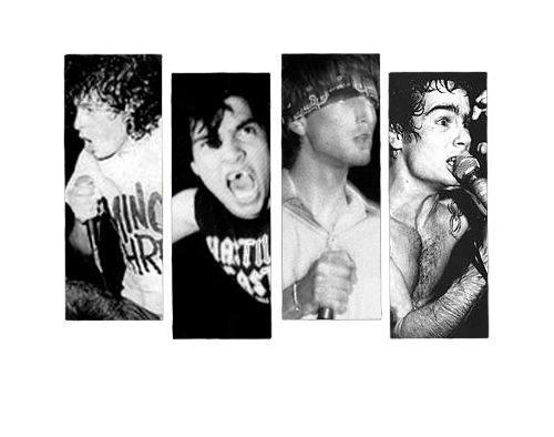 """All the singers in Black Flag's history: 1) Keith Morris  2) Ron """"Chavo"""" Reyes  3) Dez Cadena  4) Henry Rollins"""
