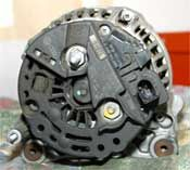 There are two types of alternator repair: rebuilding the alternator (usually replacing brushes) or alternator replacement.