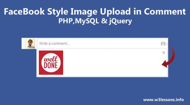 My readers continuously asked me to work on Facebook Style uploading picturesin comment box. So thought to share this wonderful tutorial here using PHP, MYSQL & jQuery. I felt that I haven't included this feature in my wallscript & I thought this is the right time to sharethis cool feature…