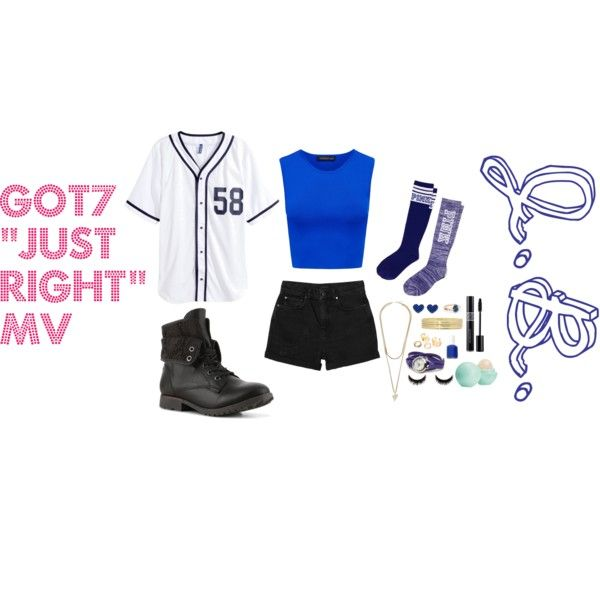 """GOT7's """"Just Right"""" MV inspired outfit   JB by drinkyourlottti on Polyvore featuring H&M, Forever New, Monki, Victoria's Secret PINK, La Mer, Liz Claiborne, Givenchy, Eos and Essie"""