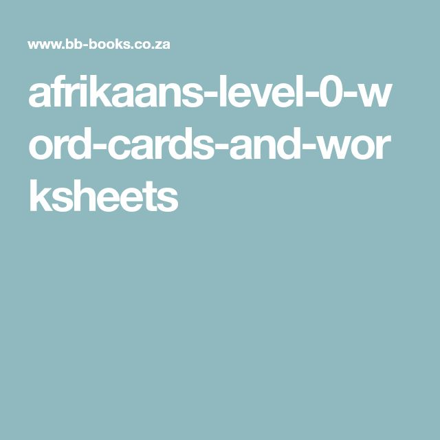 afrikaans-level-0-word-cards-and-worksheets