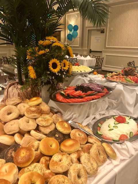 sweets and sunflowers bat mitzvah luncheon designed by side by side rh pinterest com