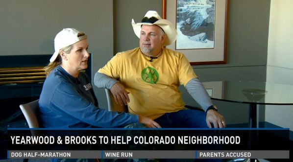 Video: Garth Brooks and Trisha Yearwood Help A Denver, Colorado Neighborhood.  Garth and Trisha are more than just camera celebrities, they're the real deal.  As you'll see in this interview with a Denver TV station, they put their heart and body into every house they build.
