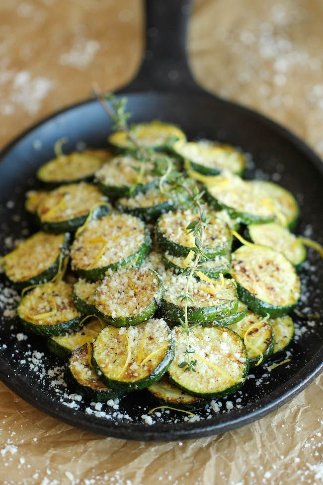 Parmesan Lemon Zucchini - The most amazing zucchini side dish made in 10 min. It's so easy and effortless, you'll want to make this every single night!