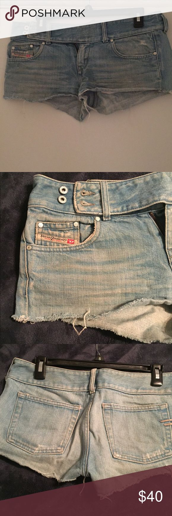 Diesel industry denim division shorts Diesel shorts -short shorts .size 30 dble button side super cute Diesel Shorts Jean Shorts