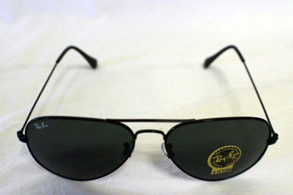 Ray-Ban Sunglasses - Aviator (RB3025) - Black Frame, Green Lens