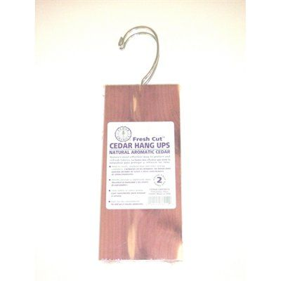 Cedar America 2- Piece Cedar Hanger 8-oz Organic Moth Prevention