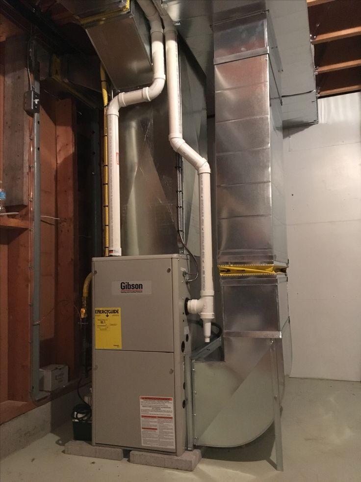 propane fired two stage gibson furnace installed with full duct system inside finished basement