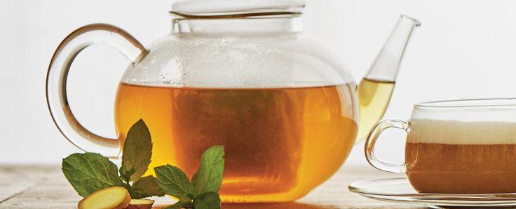 Zelený čaj se zázvorem a mátou
